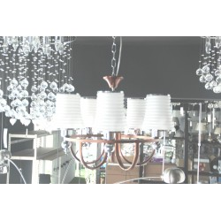 HANGING CEILING LAMP USED 5 BULBS