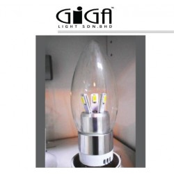 LED E27 3W  WHITE TIP TOP BULB