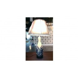 BEST PRICE OF SERAMIC TABLE LAMP IN BLUE
